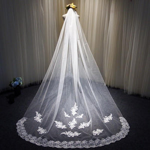 Wholesale New 3 M Wide Tulle Lace Fabric Bridal Veil Wedding Photo Brigade Church Long Tail Wedding Dress Accessories Headdress
