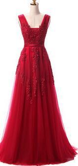 Lace Beading Evening Dresses