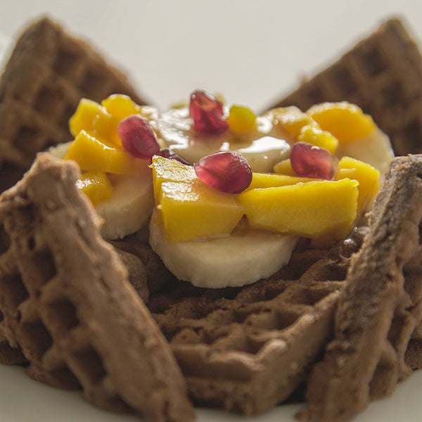 Waffles sabor chocolate