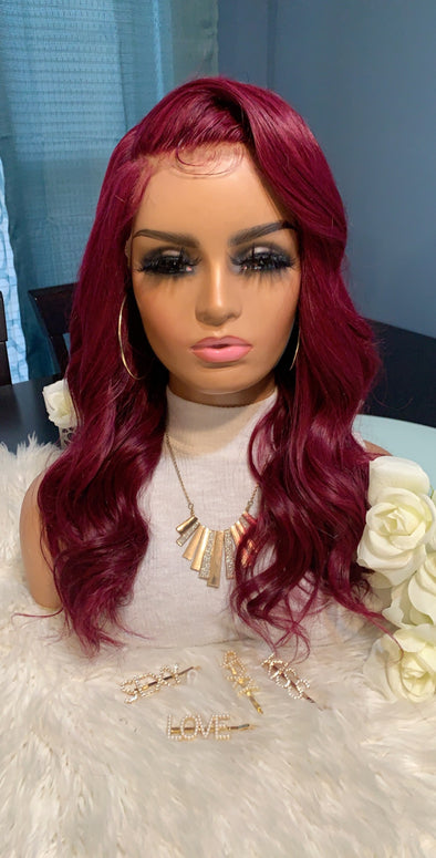 Virgin Lace Frontal Wig- *Scarlet*