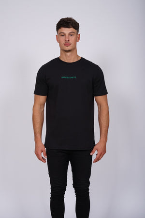 Logo Green Black T-Shirt