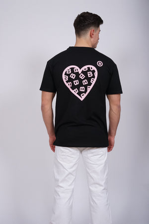 Oversized Pink Heart T-Shirt