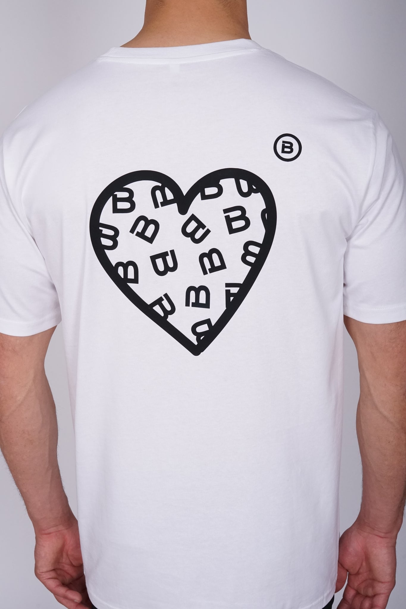 Oversized White Heart T-Shirt