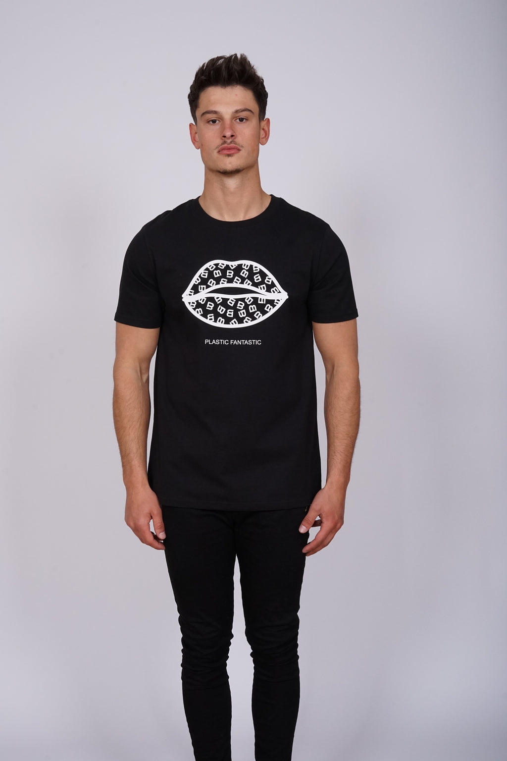 Lips Plastic Fantastic Black T-Shirt