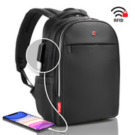 Laptop Backpack for Business & Travel. Men - Women SWISS Design with USB 17