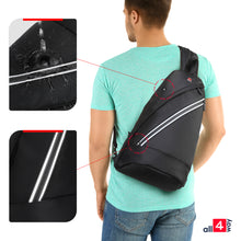 "Load image into Gallery viewer, Crossbody Sling Backpack for iPad 12"" - Swiss Design with USB RFID"