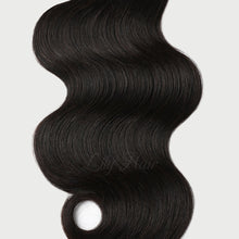 Load image into Gallery viewer, #1B Espresso Black Color Micro Ring Extensions