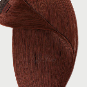 #33b Vibrant Auburn Color Micro Ring Extensions