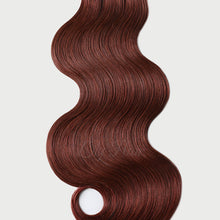 Load image into Gallery viewer, #33b Vibrant Auburn Color Micro Ring Extensions