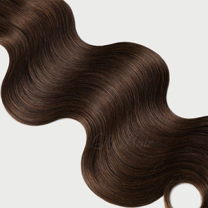 #4 Chestnut Brown Color Micro Ring Extensions