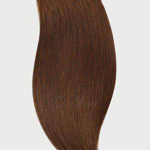 #6 Cappuccino Brown Color Halo Extensions