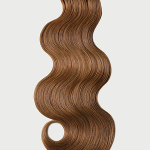 #8 Toffee Brown Color Fusion Extensions