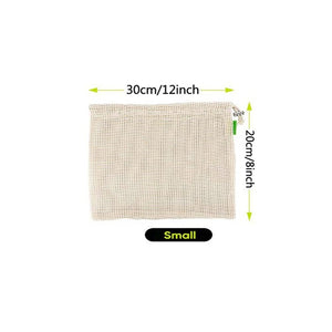 ZERO WASTE ORGANIC COTTON MESH REUSABLE PRODUCE BAGS
