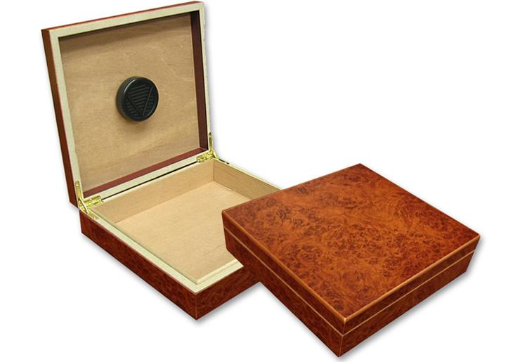 The Chateu (Burl, Black or Cherry) Desktop Humidor