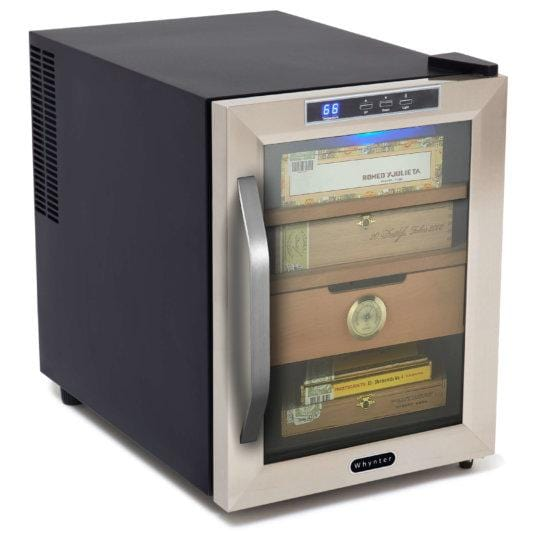 Whynter Stainless Steel 1.2 cu Cigar Cooler Humidor