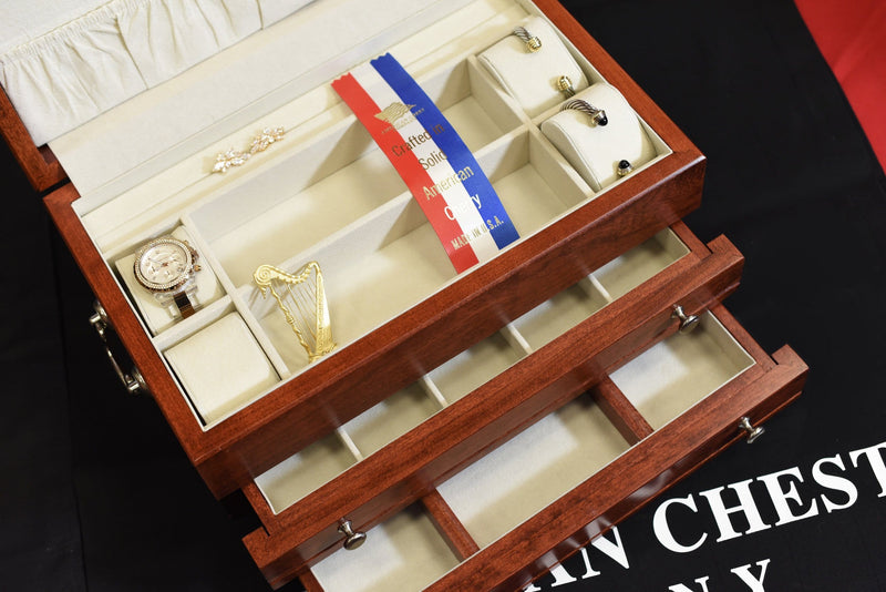 FIRST LADY - 2 Draw Jewelry Chest (Cherry or Mahogany)