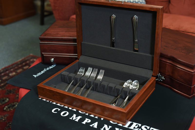 TRADITIONS - Flatware Chest with Rich Mahogany finish