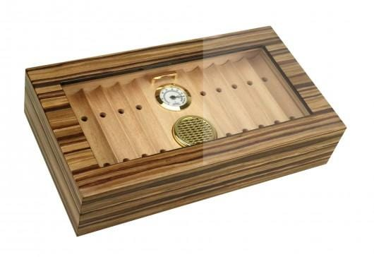 The Braydon (African Obeche Techwood) Desktop Humidor (6149605228694)
