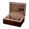 Hagan Polished Oak Wood Locking Desktop Humidor (6153166946454)