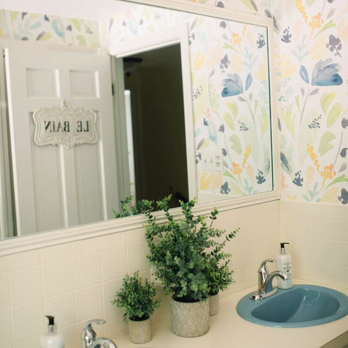 Soft Florals for A Budget-Friendly Bathroom Refresh