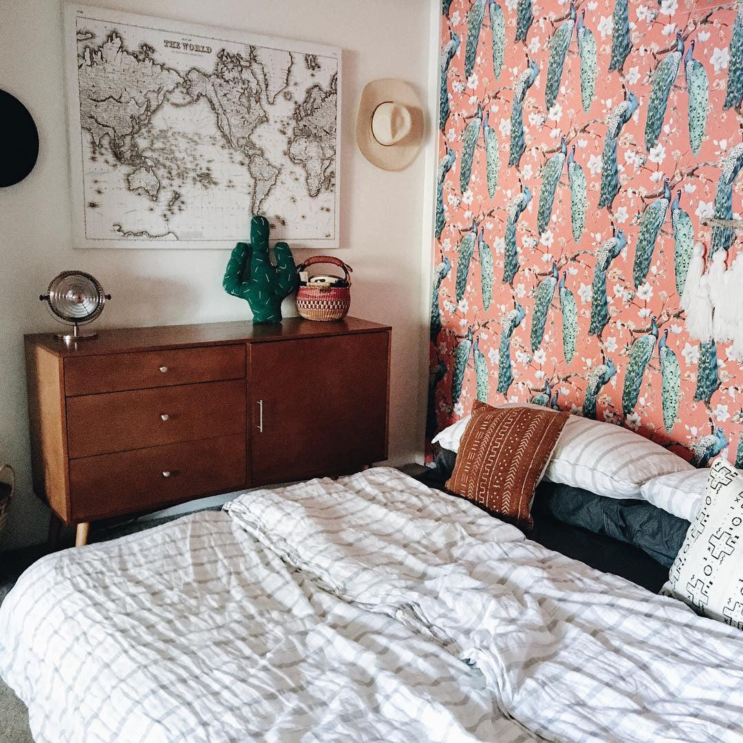 Go Bold In Small Spaces With Removable Wallpaper Wallsneedlove
