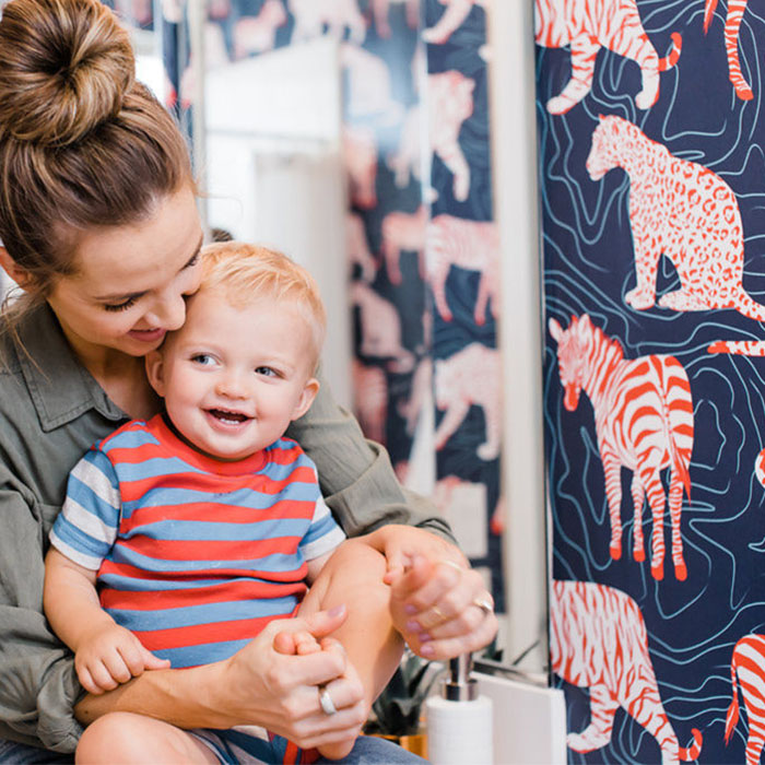 Spots and Stripes for The Perfect Boy's Bathroom!