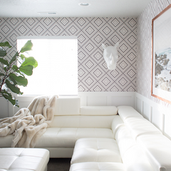 Geometric Wallpaper for A Stylish Loft