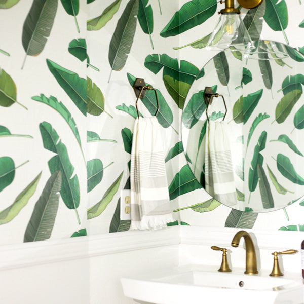 Leafy Green Powder Room Posh Up