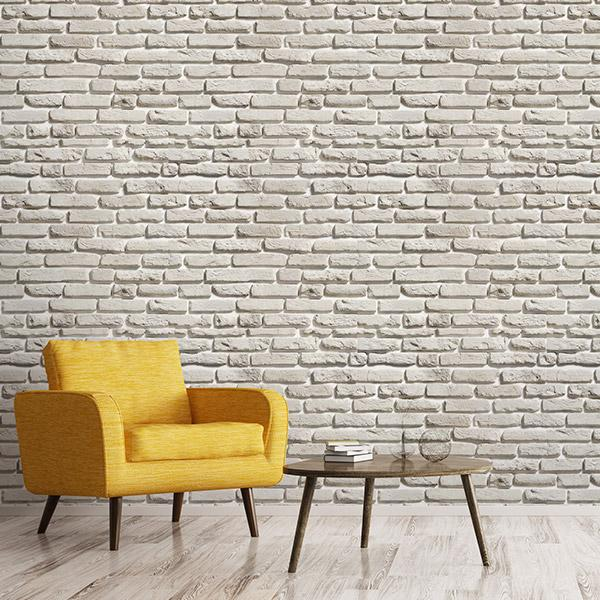Faux Brick Look Wallpapers Peel and Stick Removable