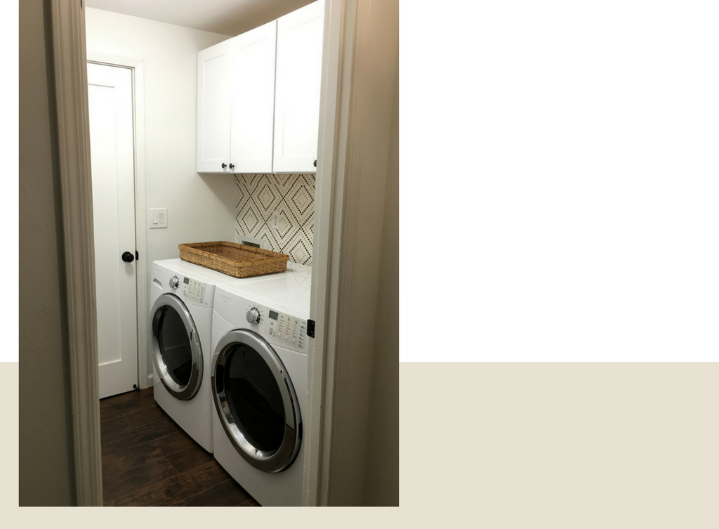 Laundry Room Geometric Accent Wall Update