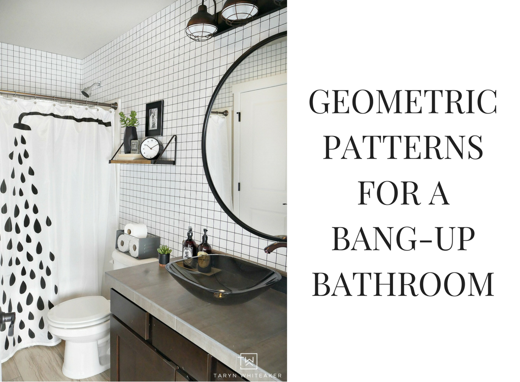 Geometric Patterns For A Bang Up Bathroom