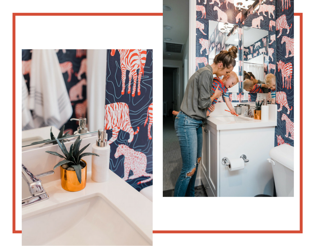 Our Spots U0026 Stripes Removable Wallpaper Makes For A Perfect U201cmix Of Mature  And Juvenileu201d, Definitely Something That Can Be Shared By Kids Who Are At  ...