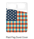 Plaid Flag Duvet Cover
