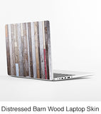 Stressed Barn Wood Laptop Skin