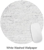 White Washed Brick Mouse Pad