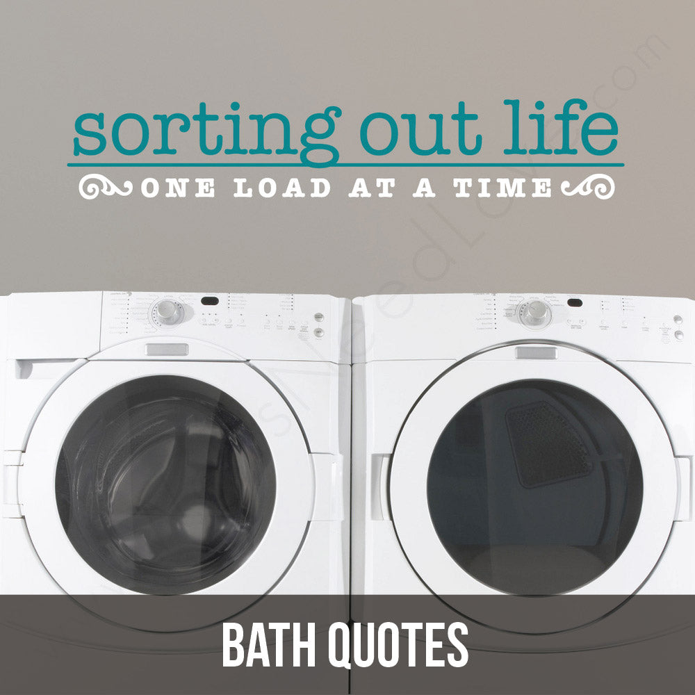 Get excited about laundry with our bath quote wall decals!