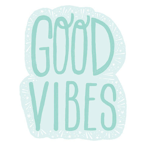 Good Vibes wall decal by Emma Trithart at Walls Need Love