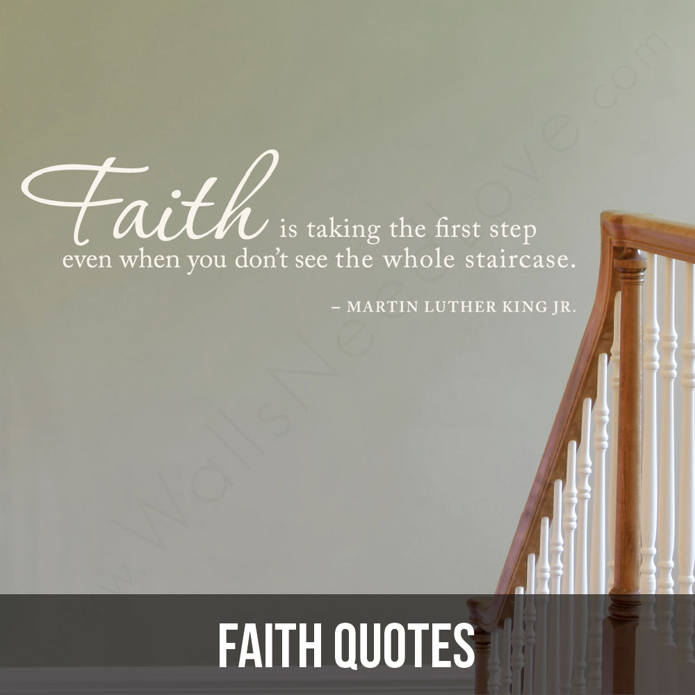 Faith isn't seeing, it's believing. These wall decals are a testament to the veracity of your belief.