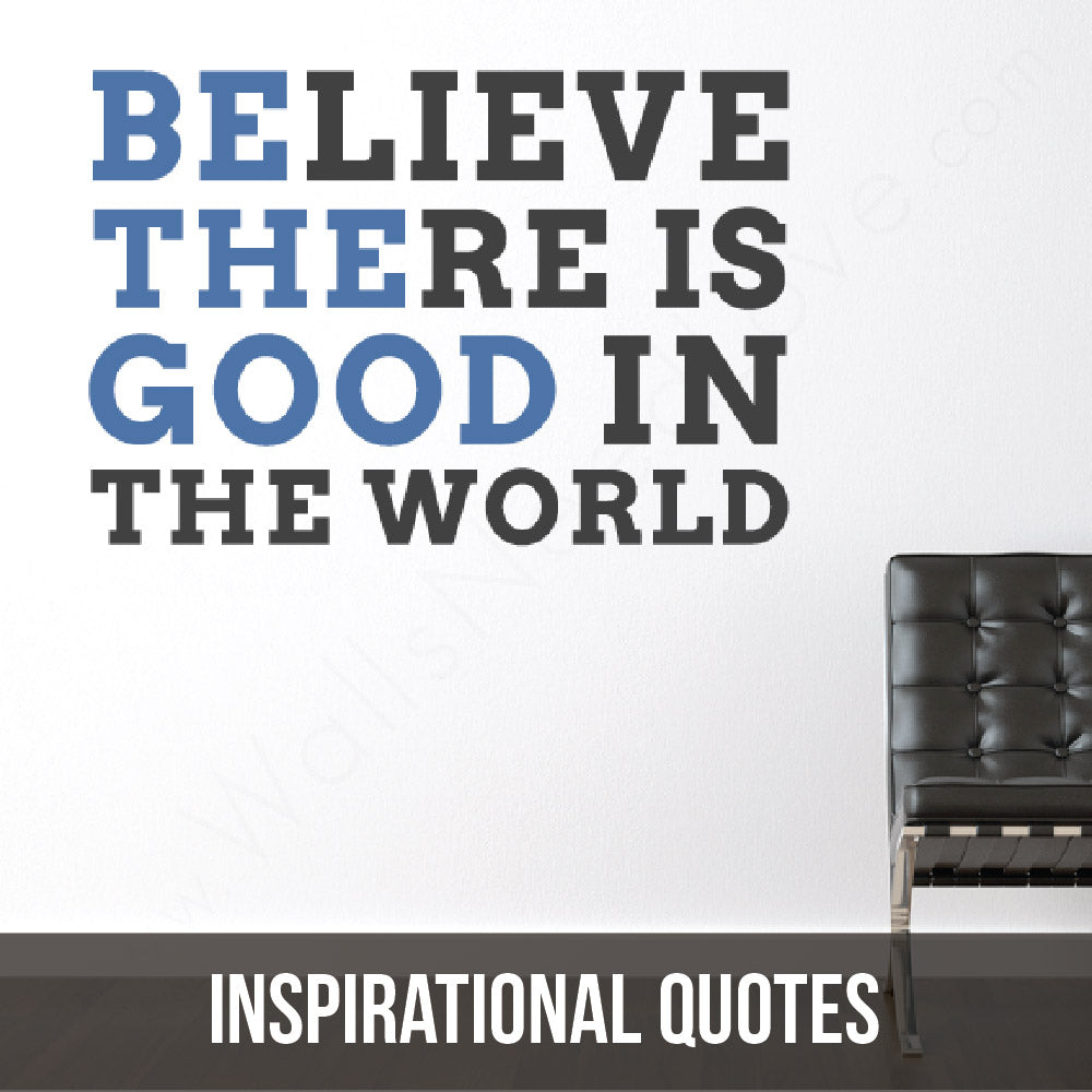 Be inspired! Live life! Be held accountable by your wall decals! (te he he)