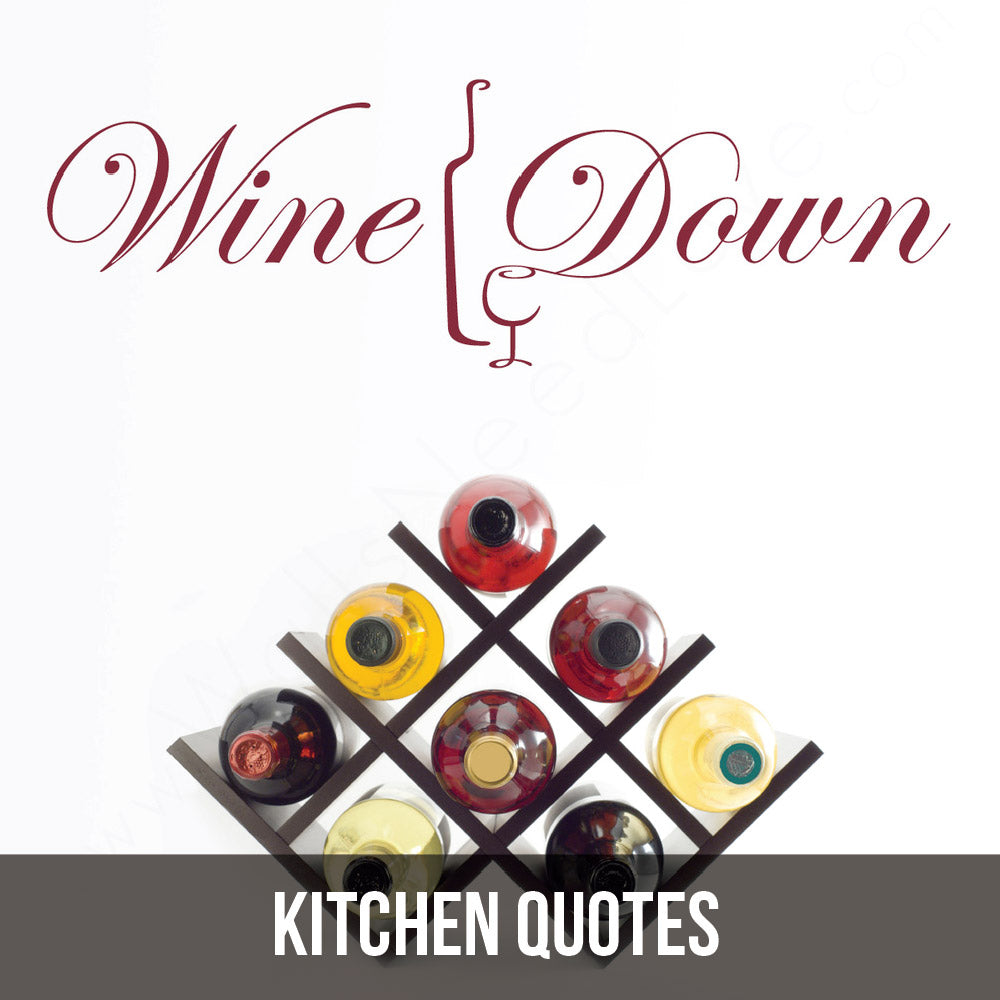 Celebrate your love of wine (I mean and food I guess) with wall decals!