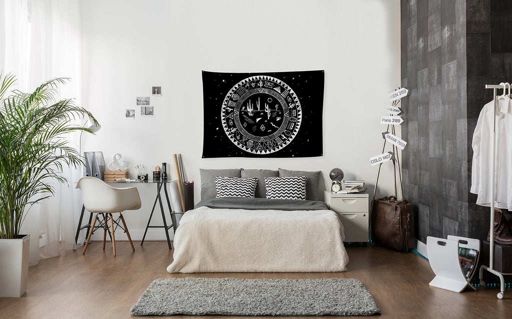 Bring some fun and affordable art to your walls with wall tapestries by @wallsneedlove.