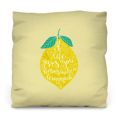 If Life Gives You Lemons Outdoor Throw Pillow by WallsNeedLove