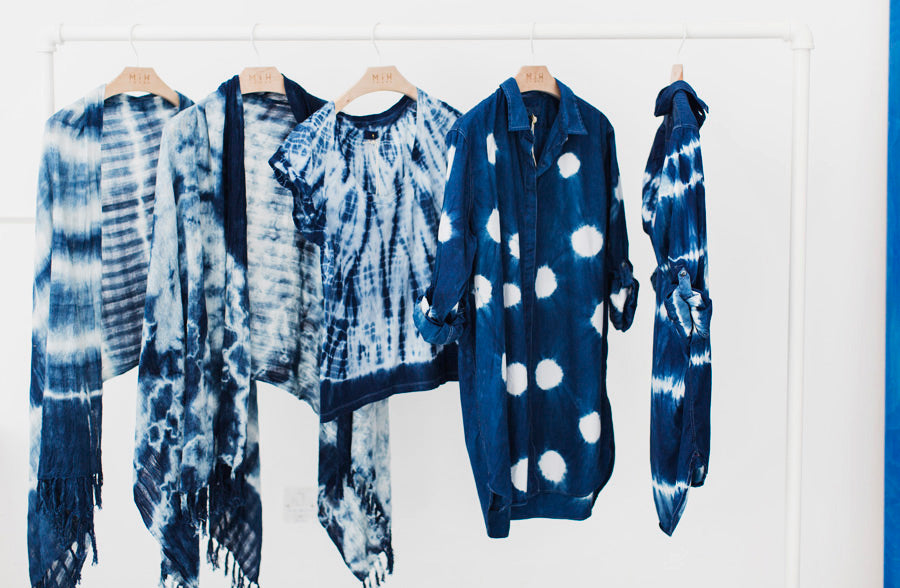 Shibori dyed garments.
