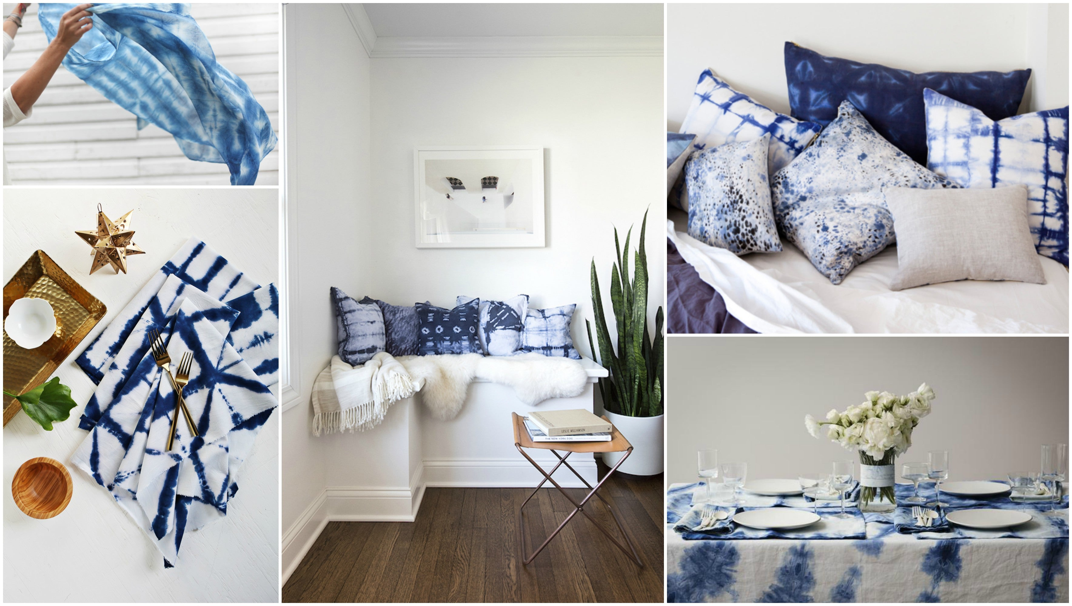 Shibori home decor is having a moment. Can't get enough of this trend.