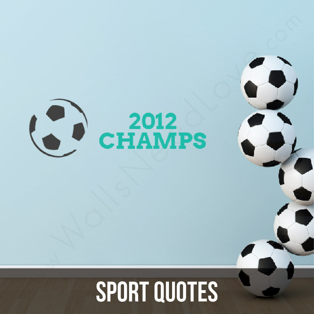 Because let's be real, what matters more than sports? Nothing. Wall decals, yay!