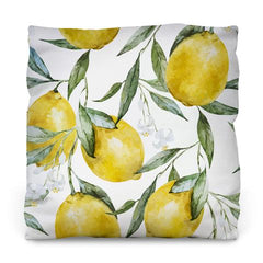 Life of Lemons Outdoor Throw Pillow by WallsNeedLove