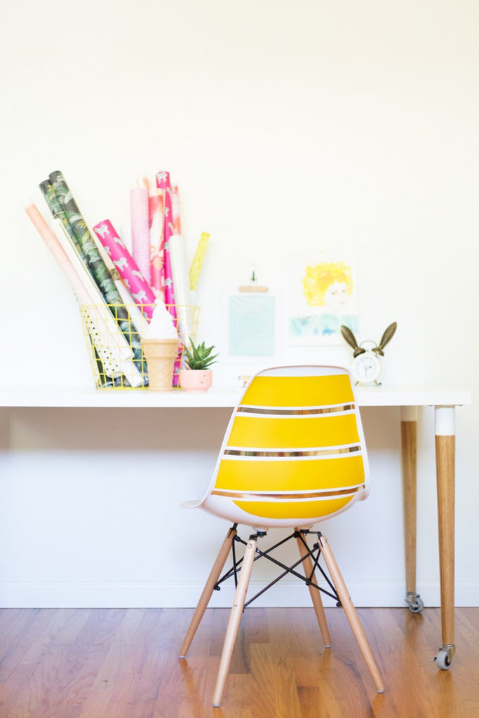 mid-century modern striped chair using Easy Stripe
