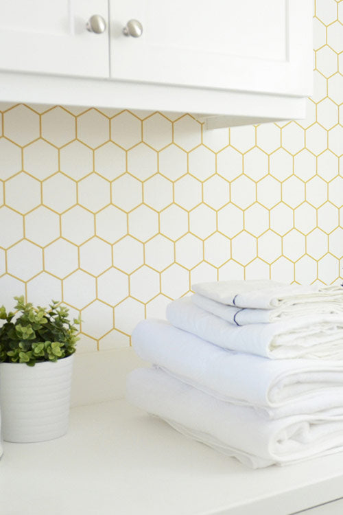 Geometric Removable Wallpapers by Walls Need Love