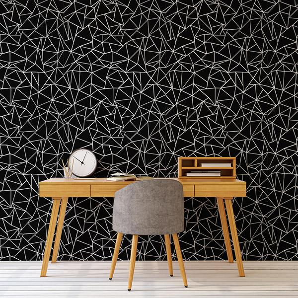 Black Wallpapers Peel and Stick Removable