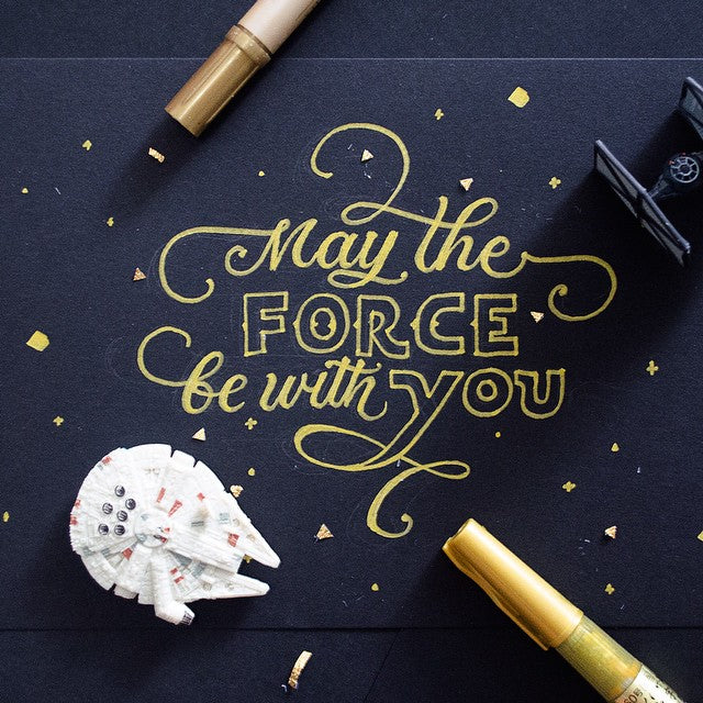 May the Force Be With You hand lettering by Patrick Cabral